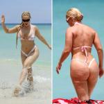 Nicole Coco Austin thonged bikini