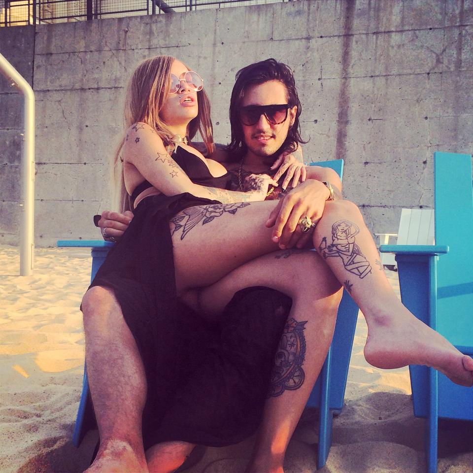 David Hener rockstar at the beach