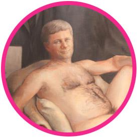 Stephen Harper nude painting