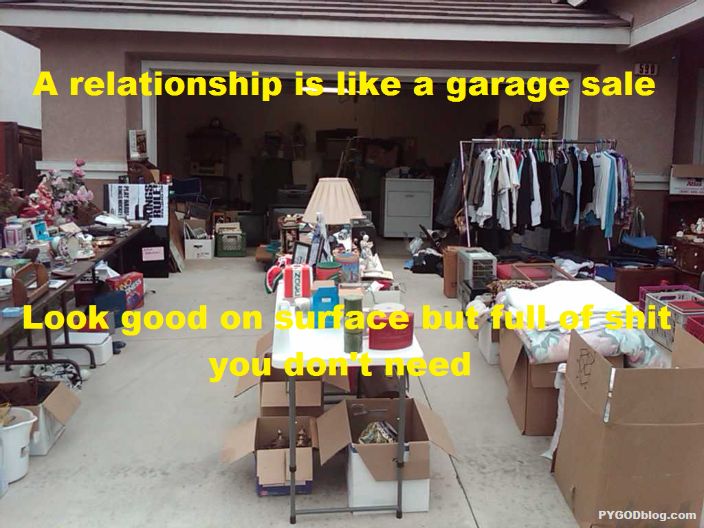 relationship garage sales