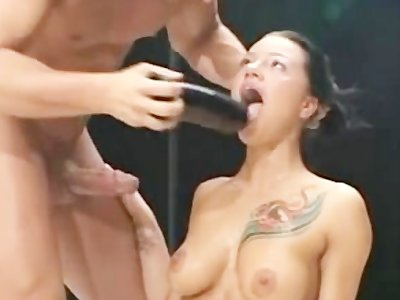 Maidservant fucked while cleaning