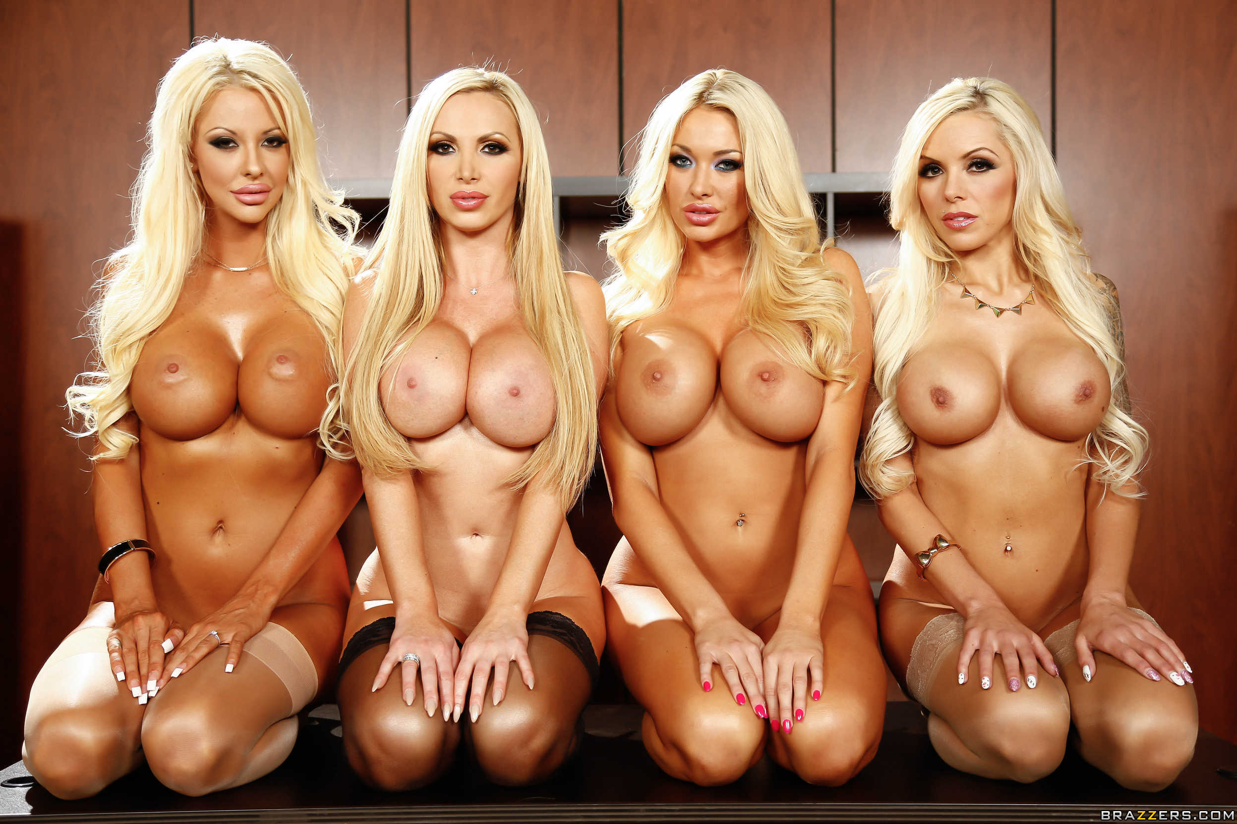 Courtney Taylor, Nikki Benz, Nina Elle, Summer Brielle office 4 blondes orgy 04