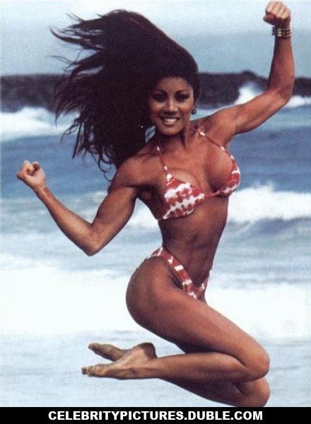 Kiana Tom beach bikini fitness