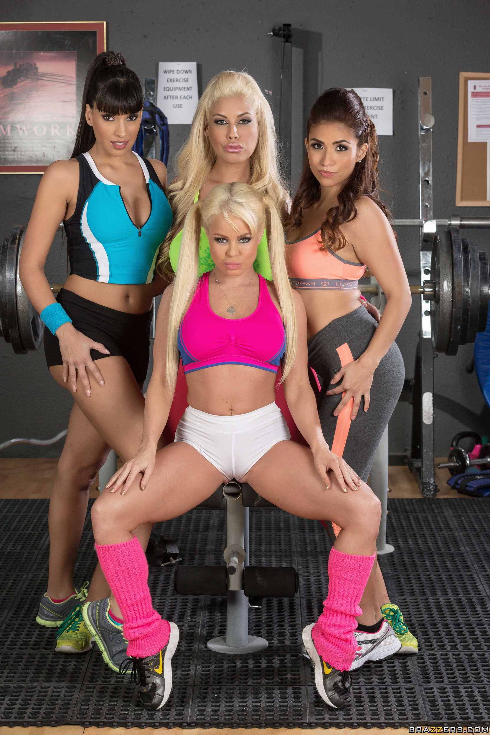 Gym Orgy - Bridgette B, Mercedes Carrera, Nikki Delano, Isabella De Santos