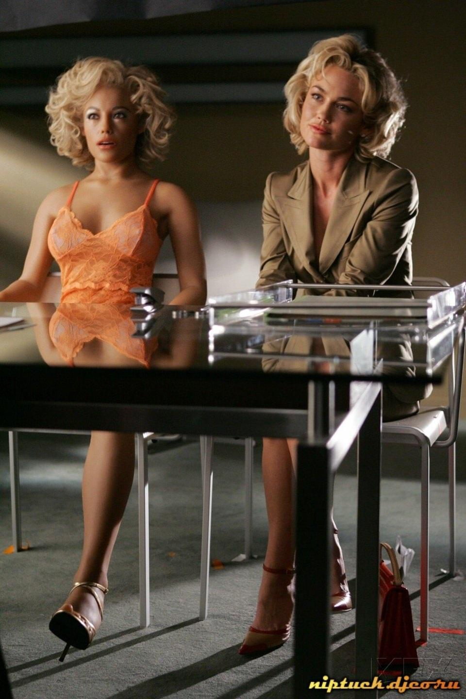 Kelly Carlson with Kimber Henry Real Doll sex doll in Nip/Tuck