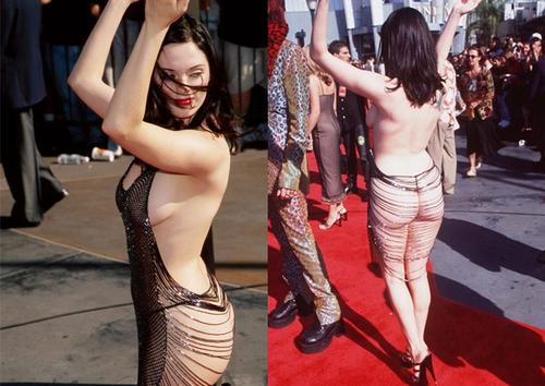 Rose McGowan naked red carpet